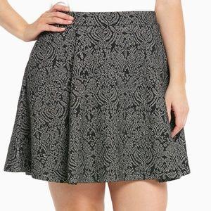 Torrid Skater Skirt Metallic Fit Flare Stretch 4X